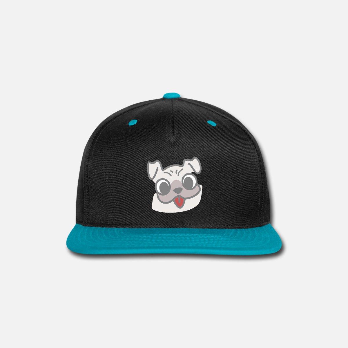 4378ae035cf Snapback CapCute Pug Face