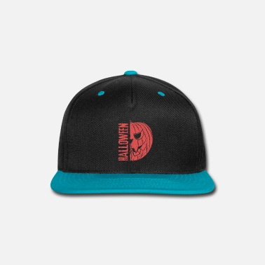 Creepy Halloween Pumpkin Creepy Gift Idea - Snapback Cap