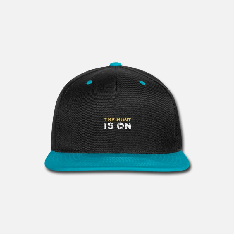 Stag Caps - Hunt Hunter Hunting Gift Idea - Snapback Cap black/teal