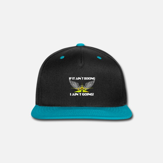 Airplane Caps - boeing aviation airplane Fan Shirt gift idea - Snapback Cap black/teal