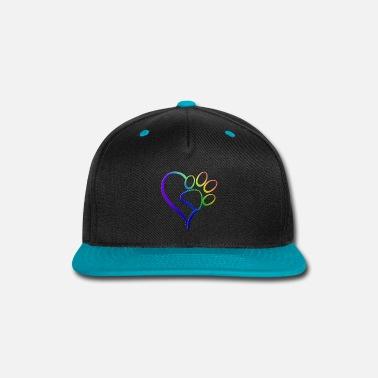 afd5c25003a478 Paw Print on my Heart Rainbow Bridge Snapback Cap | Spreadshirt