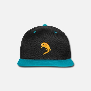 Frog Hovered Happy Axolotl Salamander - Snap-back Baseball Cap