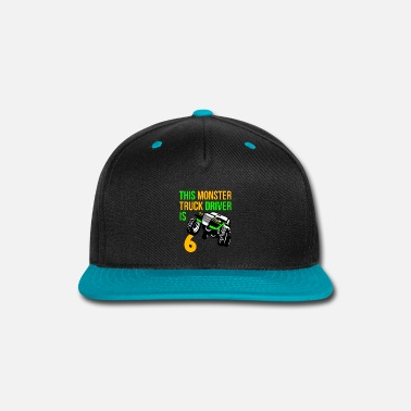 Monster Monster Truck Birthday 6 Year Old Gift - Snap-back Baseball Cap
