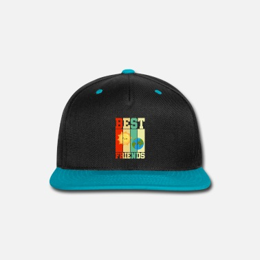 Bff Earth Sun Best Friends BFF Retro Gift - Snap-back Baseball Cap