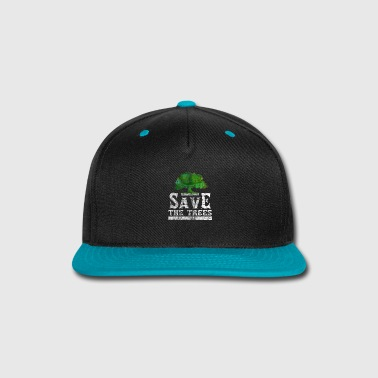 Mother Earth Save The Trees | Nature Gift - Snap-back Baseball Cap