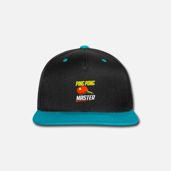 Table Tennis Paddle Caps - Ping Pong - Snapback Cap black/teal