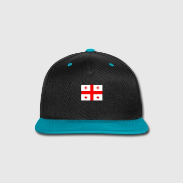 Emblem Flag of Georgia (ge) - Snap-back Baseball Cap