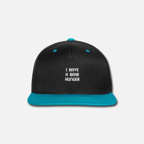 Dialect Caps - I have a hunger for food. Much food ridiculous - Snapback Cap black/teal