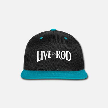 Illustration Knit LIVE TO ROD Logo Snap-back Cap 2 - Snap-back Baseball Cap