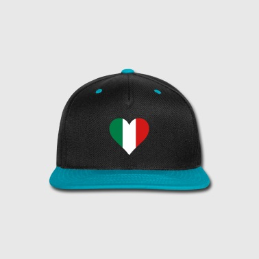 Italy Italy Heart Flag - Snap-back Baseball Cap