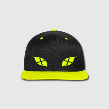 Cross Eyes Cap (Green+Grey) - Snap-back Baseball Cap