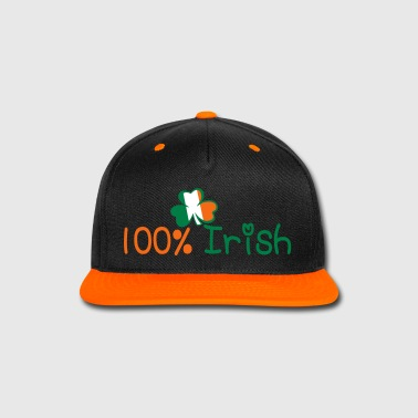 ♥ټ☘Kiss Me I'm 100% Irish-Irish Rule☘ټ♥ - Snap-back Baseball Cap