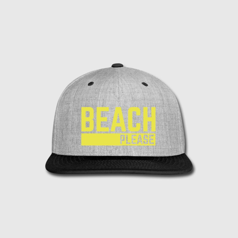 Beach Please  - Snap-back Baseball Cap