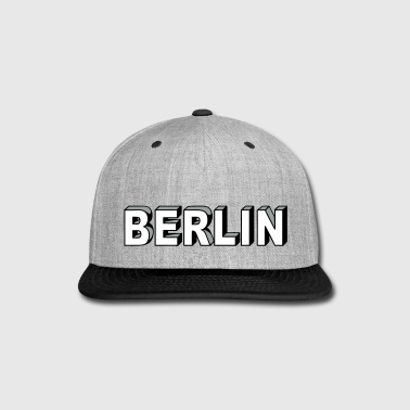 BERLIN Block Letters - Snap-back Baseball Cap