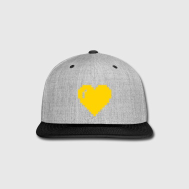 Pixel Heart - Snap-back Baseball Cap