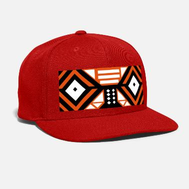 Tribal Mask Cap (Orange) - Snap-back Baseball Cap