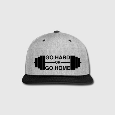 Squat Go Hard or Go Home - Snap-back Baseball Cap