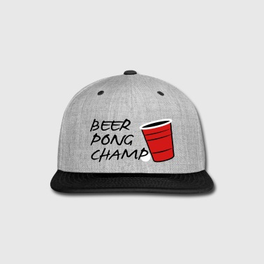 Beer Pong Champ 3 Color Vector - Snap-back Baseball Cap