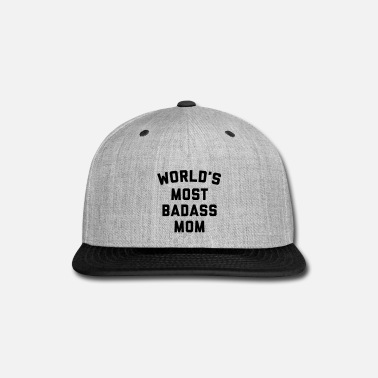 Badass Badass Mom Funny Quote - Snap-back Baseball Cap