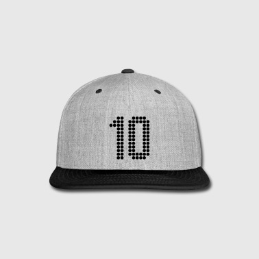Number 10, Numbers, Football Numbers, Jersey Numbers - Snap-back Baseball Cap