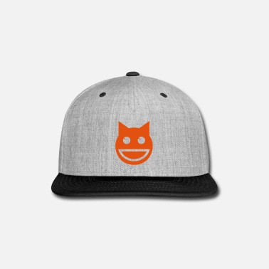 Emoji Smiling Emoji Cat - Snap-back Baseball Cap
