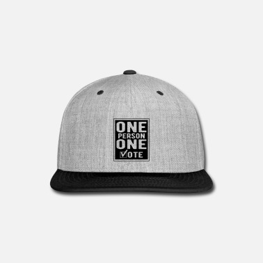 Personalize One Person One Vote - Snap-back Baseball Cap