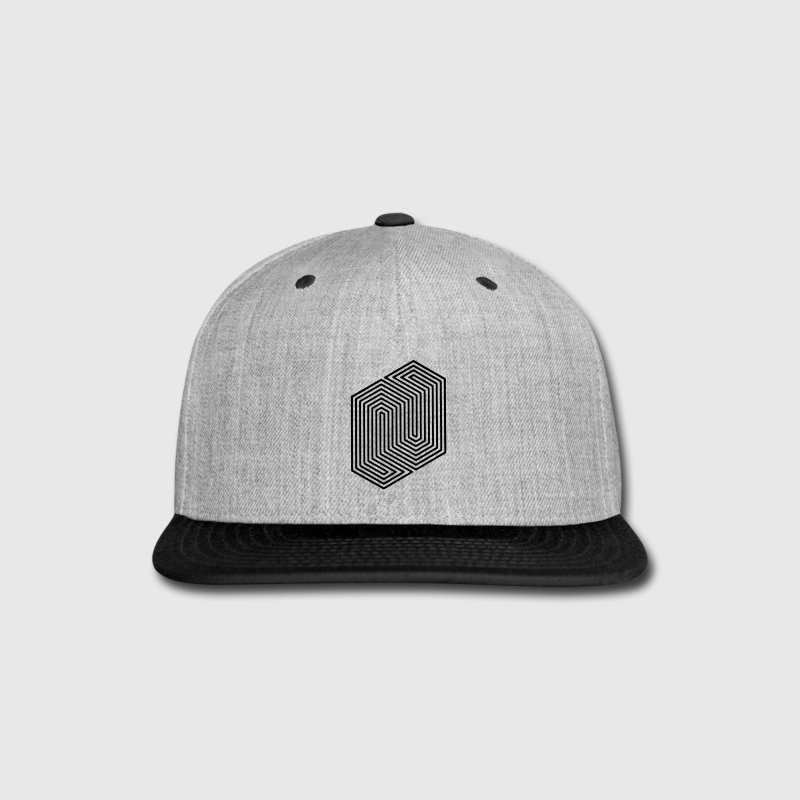 Optical Illusion (Impossible Minimal B & W Lines) - Snap-back Baseball Cap