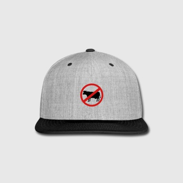 Prohibited Cow - No meat or steak - Snap-back Baseball Cap