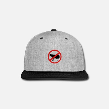 Prohibition Cow - No meat or steak - Snap-back Baseball Cap