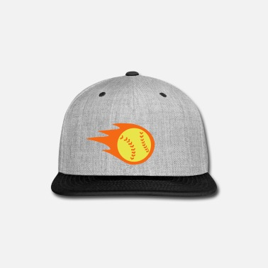 Softball Fire - Snap-back Baseball Cap