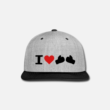 Matching I Love Boxing - Snap-back Baseball Cap