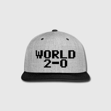 World 2-0 (80s PC font) - Snap-back Baseball Cap