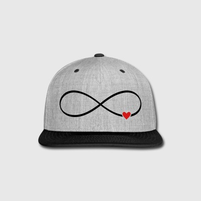 infinity heart love - Snap-back Baseball Cap