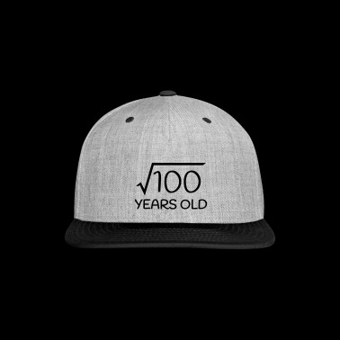 10 Years Old - 10th Birthday (square root 100) - Snap-back Baseball Cap