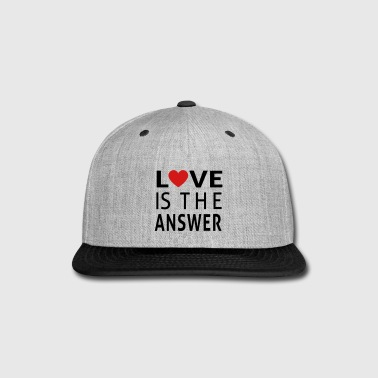 PosiTees - Love Is The Answer - Snap-back Baseball Cap