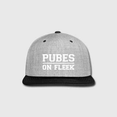 Pubes on Fleek White - Snap-back Baseball Cap