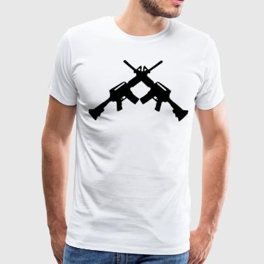crossed rifles 1_ - Men's Premium T-Shirt