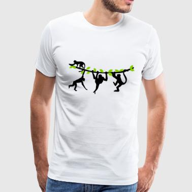 Climbing Monkeys - 2 colors - Men's Premium T-Shirt