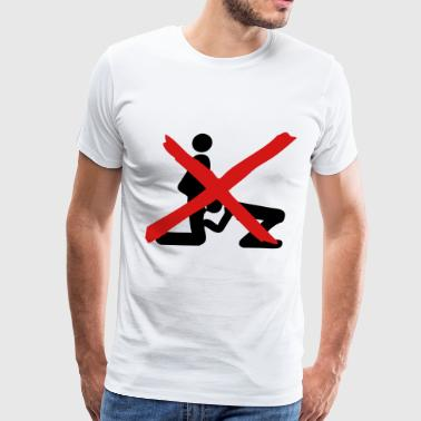 forbidden love oral sex icon - Men's Premium T-Shirt