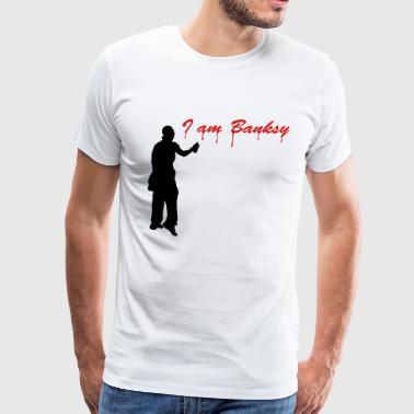I_am_banksy_2c - Men's Premium T-Shirt
