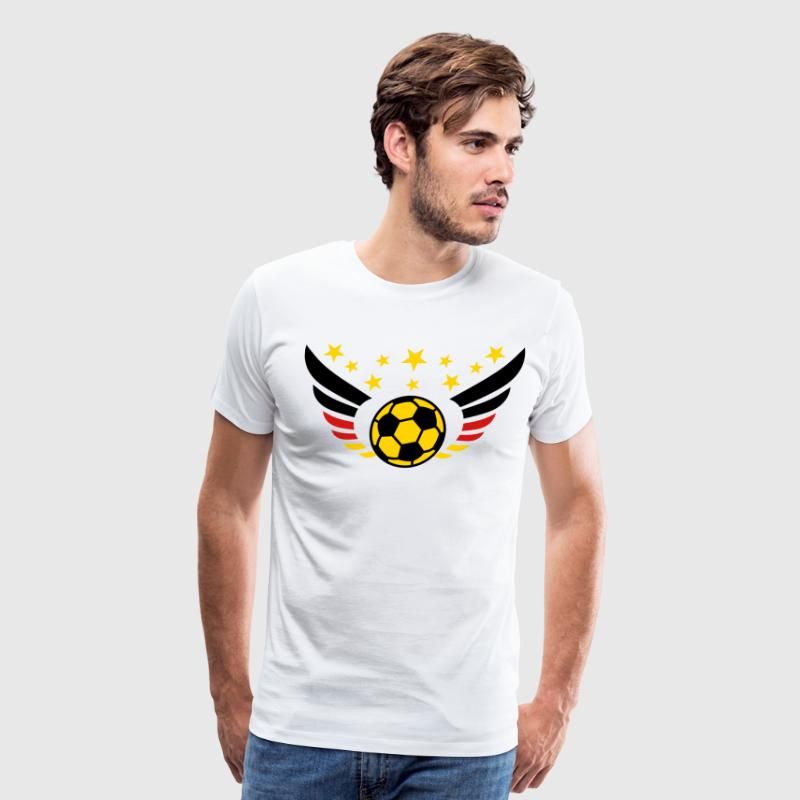 German Football Fussball Wings Star Flag 3c - Men's Premium T-Shirt