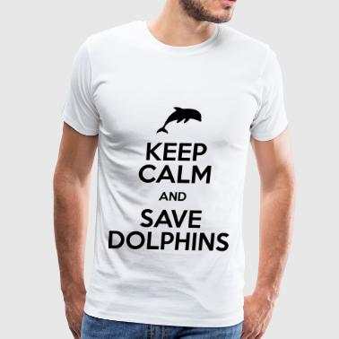 keep calm and save dolphins - Men's Premium T-Shirt
