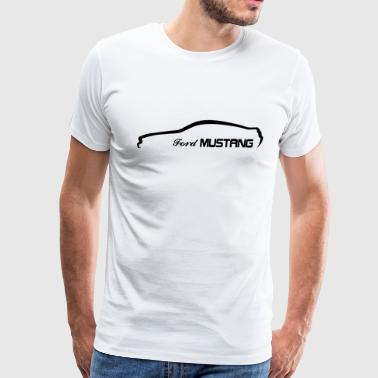 car silhouette - Men's Premium T-Shirt