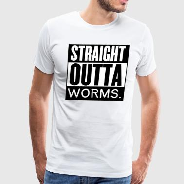 Straight Outta Worms Fishing Design - Men's Premium T-Shirt