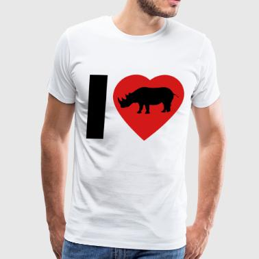 I Love Rhinos - Men's Premium T-Shirt