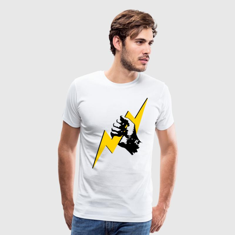 Zeus Lightning Hand - Men's Premium T-Shirt