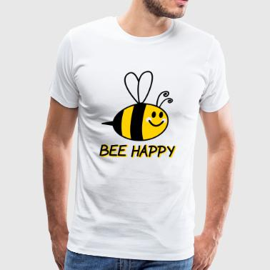 Bee Happy Cartoon - Men's Premium T-Shirt