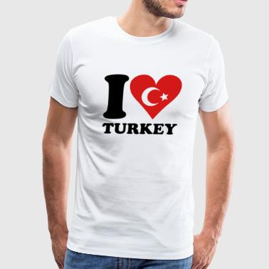 I love turkey - Men's Premium T-Shirt
