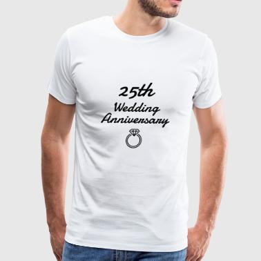 Marriage Mariage Wedding Anniversary 25 Silver - Men's Premium T-Shirt