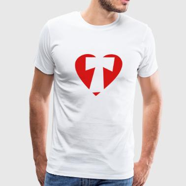I love T - Heart T - Letter T - Men's Premium T-Shirt